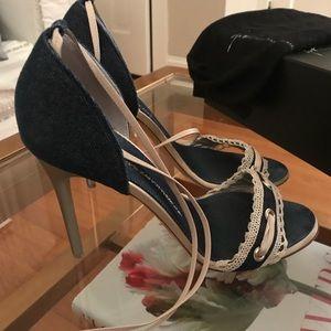 Giuseppe Zanotti denim heels